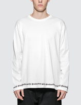 White Mountaineering Hem Printed Long Sleeve Pullover