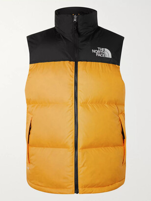 The North Face 1996 Retro Nuptse Colour-Block Quilted Shell Down Gilet - Men - Yellow