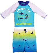Asstd National Brand Under Sea Adventure Rash Guard Set - Toddler