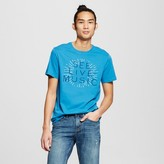 Mossimo Men's Graphic See Live Music T-Shirt Blue