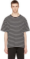 Burberry Black and White Striped T-Shirt