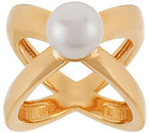 Honora As Is Cultured Pearl 9.0mm X Design Bronze Ring