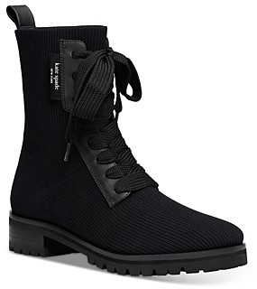Kate Spade Women's Merigue Knit Combat Boots