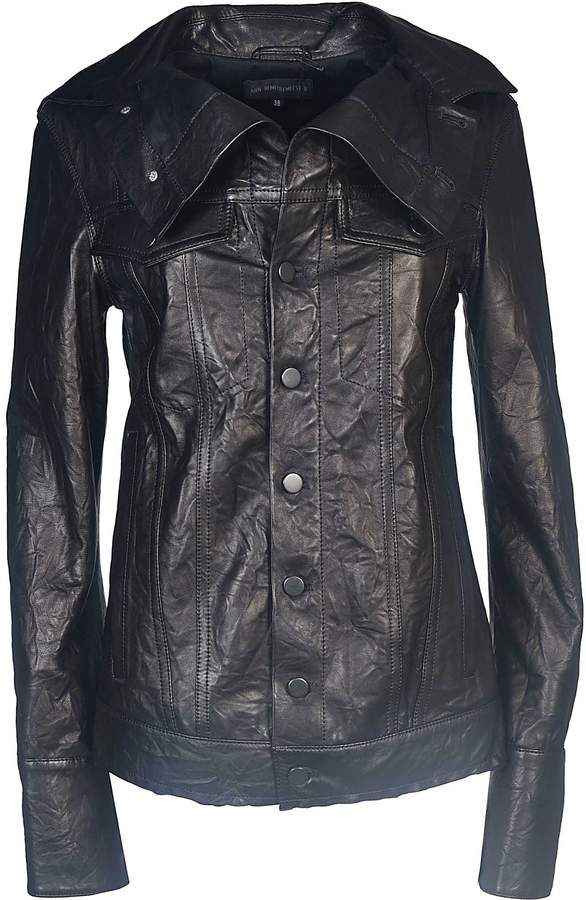 Ann Demeulemeester Classic Leather Jacket