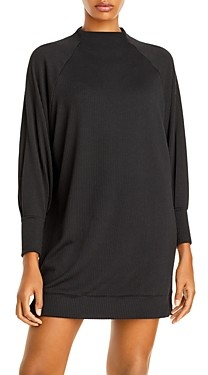 Aqua Long Sleeve Jersey Mini Dress - 100% Exclusive