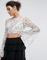 Keepsake Lace Top with Cold Shoulder