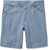 Officine Generale - Garment-dyed Cotton-poplin Shorts