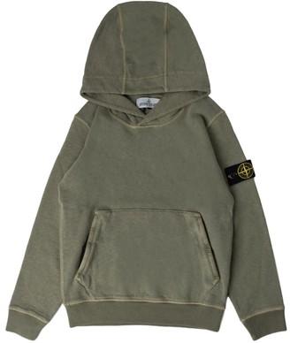 Stone Island Sweatshirt With Zip And Sand Hood