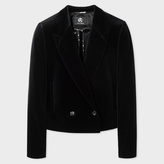 Paul Smith Women's Cropped Black Velvet Blazer