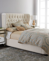 Horchow Monterey Queen Tufted Bed