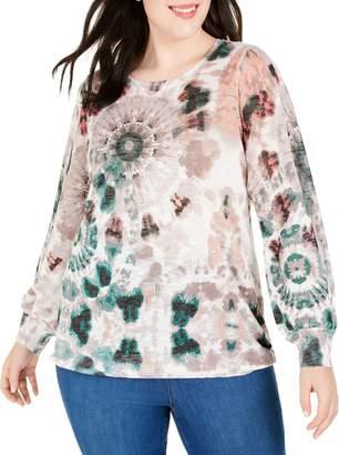 INC International Concepts Plus Tie-Dye Sweater