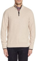 Tailorbyrd Men's Sikes Tipped Quarter Zip Sweater