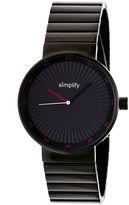Simplify The 4600 Unisex Black Bracelet Watch-Sim4605