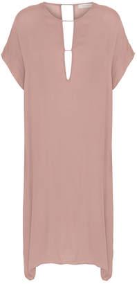 Rabens Saloner - GEORGINA DRESS PINK - extra small | viscose | pink - Pink/Pink