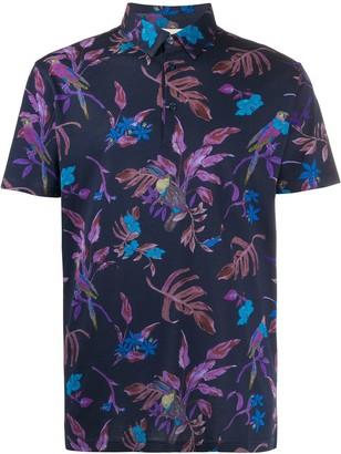Etro Toucan Floral Print Polo Shirt