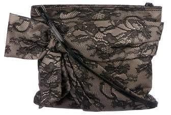 Valentino Lace Bow Shoulder Bag