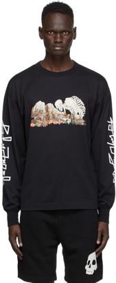 Palm Angels Black Desert Skull Long Sleeve T-Shirt