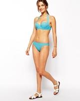 Asos Mix and Match Spot '50s Halter Padded Bikini Top