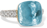 Pomellato Nudo 18-karat White Gold, Topaz And Diamond Ring - 11