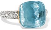 Pomellato Nudo 18-karat White Gold, Topaz And Diamond Ring - 13