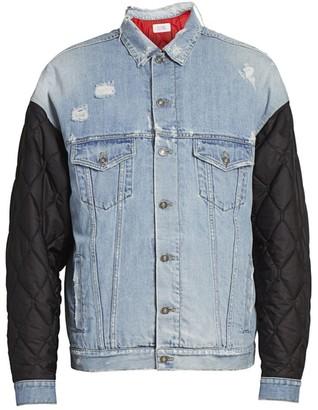 Givenchy Mixed-Media Denim Jacket