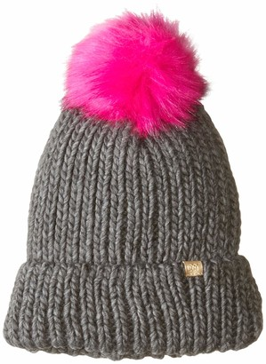 D&Y Women's David & Young's Cuff Knit Beanie with pom