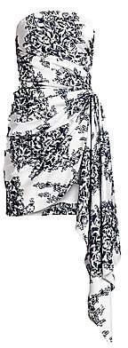 Oscar de la Renta Women's Strapless Floral Sash Mini Dress