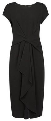 Dorothy Perkins Womens Luxe Black Manipulated Crepe Dress, Black