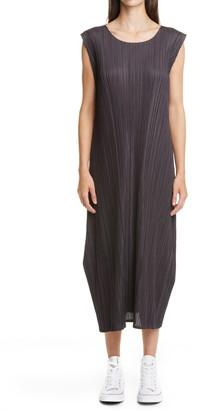 Pleats Please Issey Miyake Mellow Pleated Midi Tunic Dress