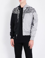 Marcelo Burlon County of Milan Embroidered-detail shell bomber jacket