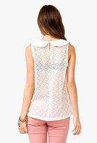 Forever 21 Crocheted Bow Shirt