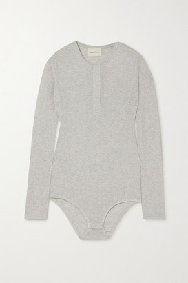 LOULOU STUDIO Arro Ribbed Melange Cotton Bodysuit