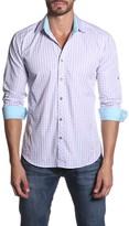 Jared Lang Checkered Long Sleeve Semi-Fitted Shirt