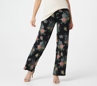Women With Control Attitudes by Renee Tall Novelty Straight Leg Pull-On Pants