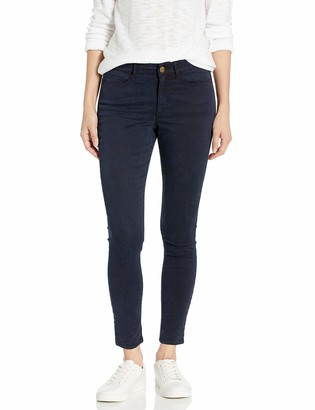 Daily Ritual Amazon Brand Women's Sateen Mid-Rise Skinny Ankle Pant