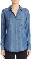 Rails Carter Star-Print Chambray Shirt