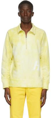 Helmut Lang Yellow Half-Zip Sweatshirt