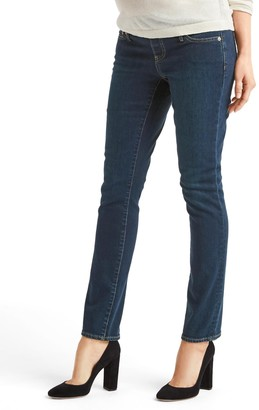 Gap Maternity demi panel real straight jeans