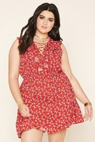 Forever 21 FOREVER 21+ Plus Size Floral Lace-Up Dress