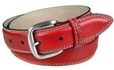 Manieri Red Leather Belt