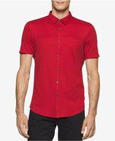 Calvin Klein Men's Sedgewick Contrast-Placket Button-Front Shirt, A Macy's Exclusive