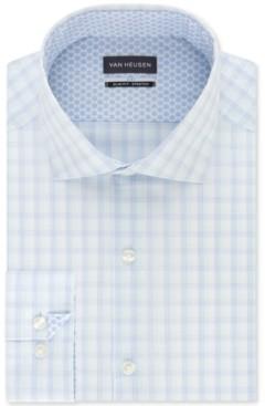 Van Heusen Men's Air + Slim-Fit Non-Iron Performance Stretch Check Dress Shirt