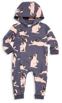 Mini Rodini Baby's Hooded Rabbit-Print Coverall