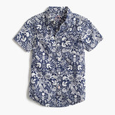 J.Crew Kids' short-sleeve Secret Wash shirt in mermaid floral