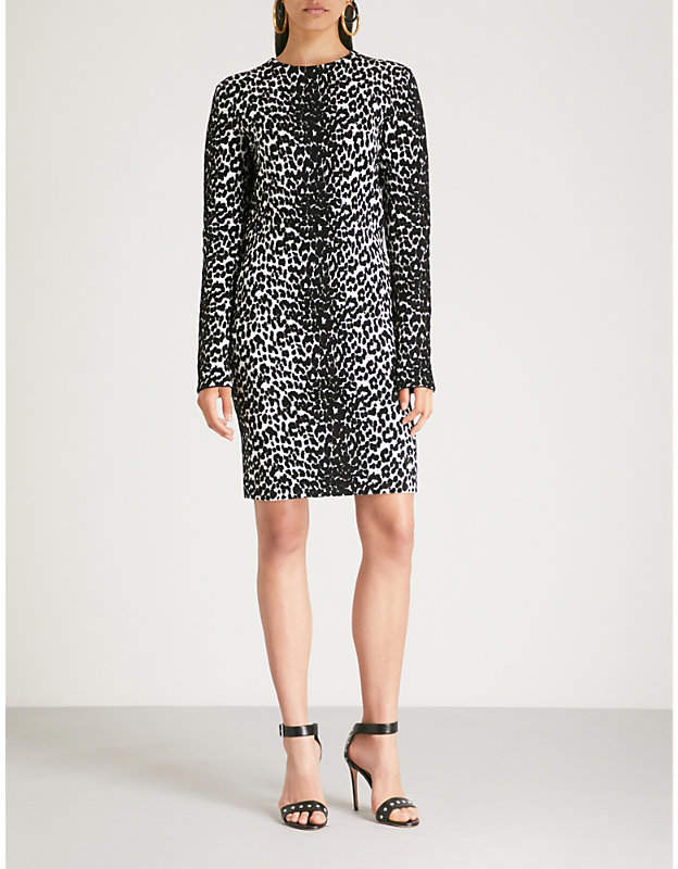 Givenchy Leopard-pattern stretch-knit mini dress