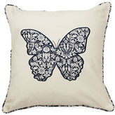 Home Outfitters Butterfly Embroidered Square Throw