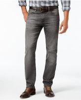 HUGO BOSS Green Men's Maine Straight-Fit Dark Blue Wash Jeans