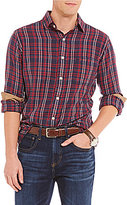 Daniel Cremieux Plaid Vintage Twill Long-Sleeve Woven Shirt