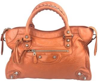 Balenciaga City Orange Leather Handbags