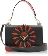 Fendi Kan I Logo Color Block Leather Shoulder Bag